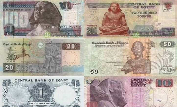 банкноти египетски паунд